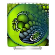 Born To Be Green Shower Curtain