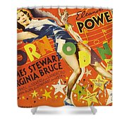 Born To Dance 1936 Retro Movie Poster Shower Curtain