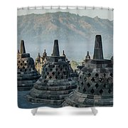 Borobudur Shower Curtain