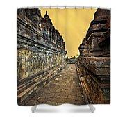 Borobudur Temple Shower Curtain