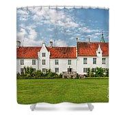 Bosjokloster Monastery Castle Facade Shower Curtain