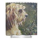 Bosley's Garden Portrait Shower Curtain