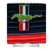 Boss 302 Ford Mustang Emblem Shower Curtain