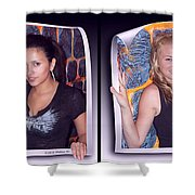Bossom Buddies - Gently Cross Your Eyes And Focus On The Middle Image Shower Curtain