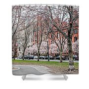 Boston Back Bay In Spring Shower Curtain