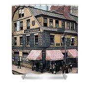 Boston: Bookshop, 1900 Shower Curtain