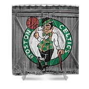 Boston Celtics Barn Doors Shower Curtain