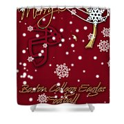 Boston College Eagles Christmas Card Shower Curtain