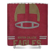 Boston College Eagles Vintage Football Art Shower Curtain