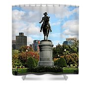 Boston Common Shower Curtain by DJ Florek