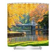 Fall Season At Boston Common Shower Curtain