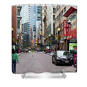 Boston Downtown Crossing Shower Curtain