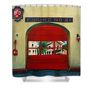 Boston Fire Engine 21 Shower Curtain