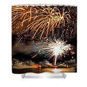 Boston Fireworks On The Charles Shower Curtain