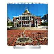 Boston Freedom Trail To State House Boston Ma Shower Curtain