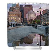 Boston From Long Wharf Shower Curtain
