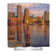 Boston Habor Sunrise Shower Curtain
