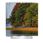 Boston In The Fall Shower Curtain