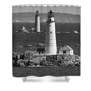 Boston Light With Graves Light Shower Curtain
