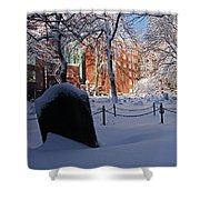 Boston Ma Granary Burying Ground Tremont St Grave Stones Shower Curtain