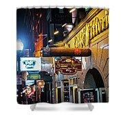 Boston Ma North End Cigar Shop Shower Curtain