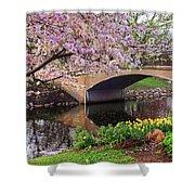 Boston Ma Spring Tree On The Charles River Esplanade Boston Ma Shower Curtain