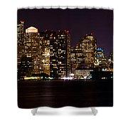 Boston Massachusetts - Panoramic Shower Curtain