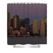 Boston Moonset And Sunrise Shower Curtain