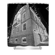 Boston Old State House Boston Ma Angle Black And White Shower Curtain