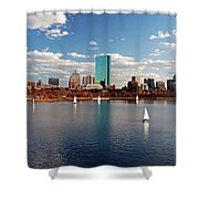 Boston On The Charles  Shower Curtain
