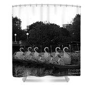 Boston Public Garden Swan Boats Shower Curtain
