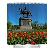 Boston Public Garden Tulips Boston Ma Shower Curtain