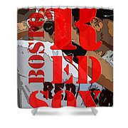 Boston Red Sox Original Typography  Shower Curtain
