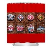 Boston Red Sox World Series Emblems Shower Curtain