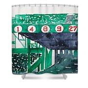 Boston Retired Numbers Shower Curtain
