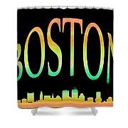 Boston Skyline 10 Shower Curtain