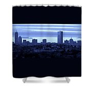 Boston Skyline From Quincy Shower Curtain