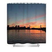 Boston Sunset Shower Curtain