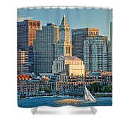 Boston Sunset Sail Shower Curtain by Susan Cole Kelly