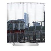 Boston Subway The T Shower Curtain