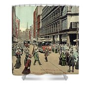 Boston: Washington Street Shower Curtain