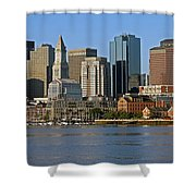 Boston Waterfront Shower Curtain