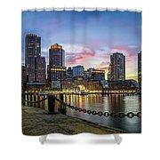 Boston,ma Sunset Shower Curtain
