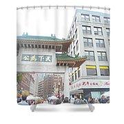 Boston's Chinatown  Shower Curtain