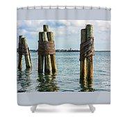 Boston's Harbor Shower Curtain