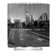 Boston's North End Fountains Shower Curtain