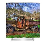 Boswell 1947 Dump Truck Farm Scene Shower Curtain