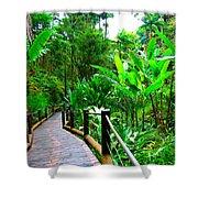 Botanic Gardens Trail Shower Curtain