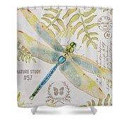 Botanical Dragonfly-jp3418b Shower Curtain