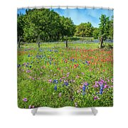 Botanical Variety Show In The Texas Hill Country Shower Curtain
